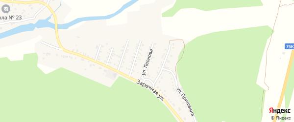 Улица Леонова на карте поселка Северные Печи с номерами домов