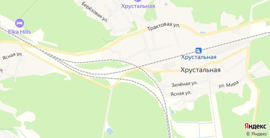 Карта поселка Хрустальная ж/д в Первоуральске с улицами, домами и почтовыми отделениями со спутника онлайн