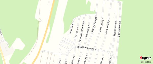 Тихая улица на карте территории Коллективного Сада Северный-2 с номерами домов