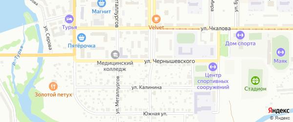 Улица Чернышевского на карте Краснотурьинска с номерами домов