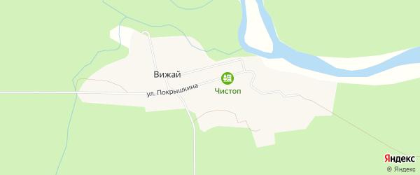 Карта поселка Вижая города Ивдели в Свердловской области с улицами и номерами домов