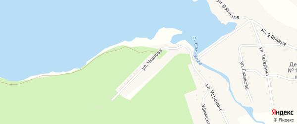 Улица Чкалова на карте Карабаша с номерами домов