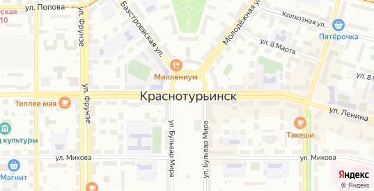 Пешеходный переулок в Краснотурьинске с номерами домов на карте. Спутник и схема онлайн