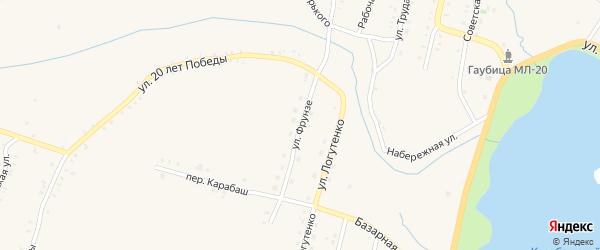 Улица Фрунзе на карте Карабаша с номерами домов