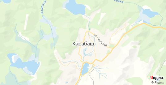Карта Карабаша с улицами и домами подробная. Показать со спутника номера домов онлайн