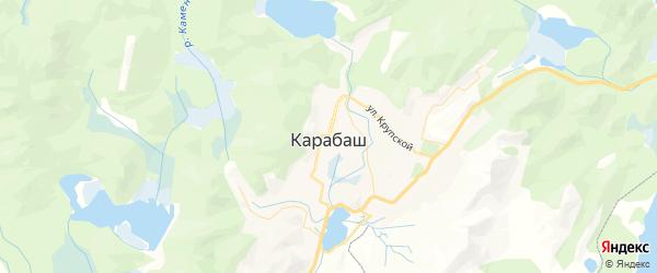 Карта Карабаша с районами, улицами и номерами домов