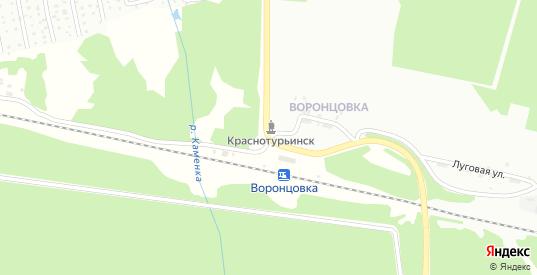 Луговая 2-я улица в Краснотурьинске с номерами домов на карте. Спутник и схема онлайн