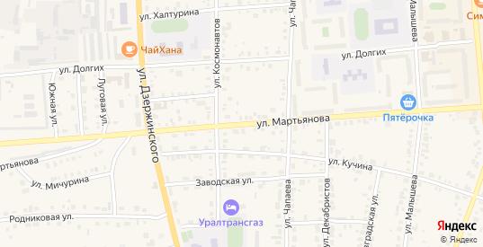 Улица Мартьянова в Невьянске с номерами домов на карте. Спутник и схема онлайн