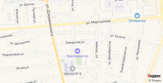 Заводская улица в Невьянске с номерами домов на карте. Спутник и схема онлайн