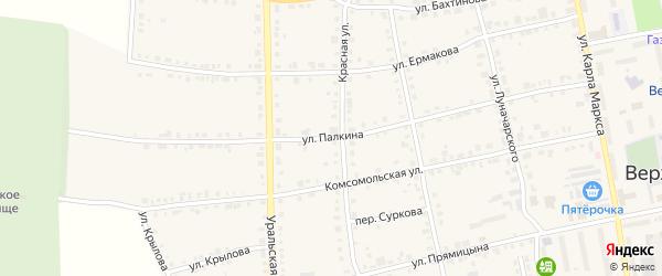 Улица Палкина на карте Верхнего Уфалея с номерами домов