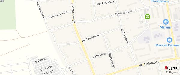 Улица Тельмана на карте Верхнего Уфалея с номерами домов