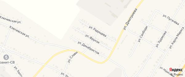 Улица Фрунзе на карте Верхнего Уфалея с номерами домов