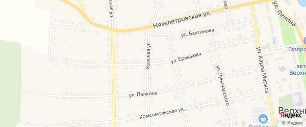 Улица Ермакова на карте Верхнего Уфалея с номерами домов