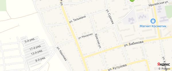 Улица Макарова на карте Верхнего Уфалея с номерами домов