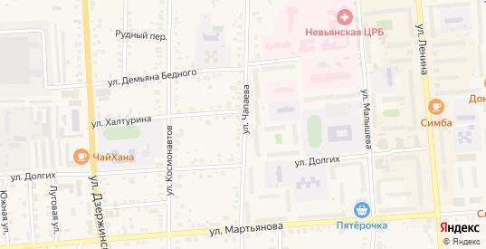 Улица Чапаева в Невьянске с номерами домов на карте. Спутник и схема онлайн