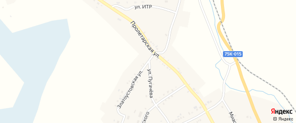 Златоустовская улица на карте Карабаша с номерами домов