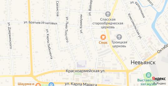 Переулок Чехова в Невьянске с номерами домов на карте. Спутник и схема онлайн
