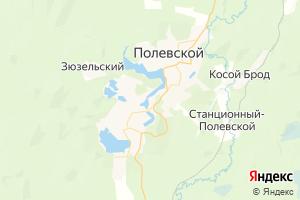 Карта г. Полевской Свердловская область