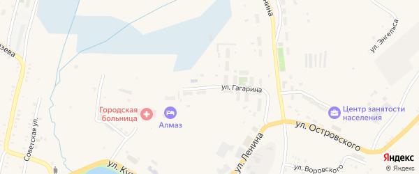 Улица Гагарина на карте Карабаша с номерами домов