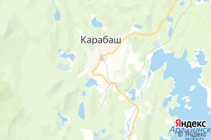 Карта г. Карабаш Челябинская область