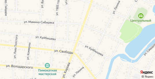 Улица Кирова в Невьянске с номерами домов на карте. Спутник и схема онлайн