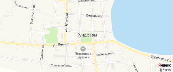 Плановая 3-я улица на карте села Кундрав с номерами домов