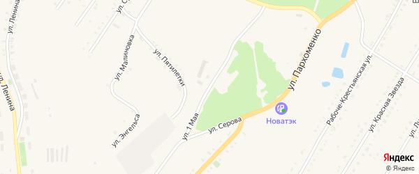 1 Мая улица на карте Карабаша с номерами домов