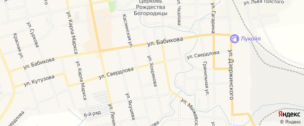 Территория Чекасина 22А на карте Верхнего Уфалея с номерами домов