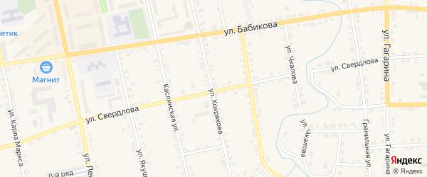 Территория ГСК Уралец на карте Верхнего Уфалея с номерами домов