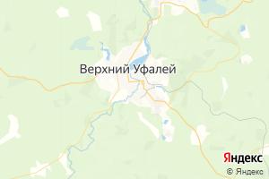 Карта г. Верхний Уфалей Челябинская область