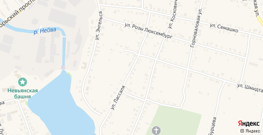 Улица Лассаля в Невьянске с номерами домов на карте. Спутник и схема онлайн