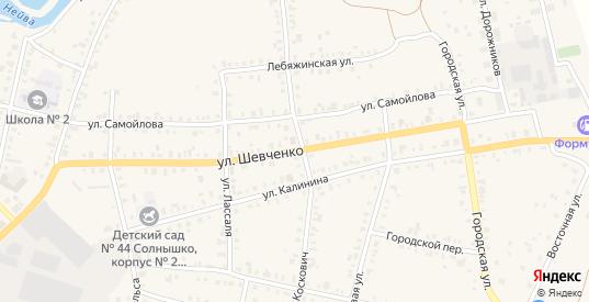 Улица Шевченко в Невьянске с номерами домов на карте. Спутник и схема онлайн