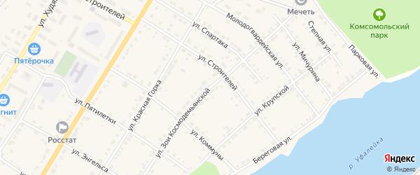Улица Зои Космодемьянской на карте Верхнего Уфалея с номерами домов