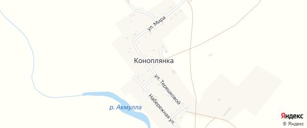 Улица Мира на карте поселка Коноплянки с номерами домов