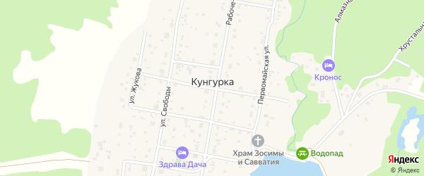 Европейская улица на карте села Кунгурки с номерами домов