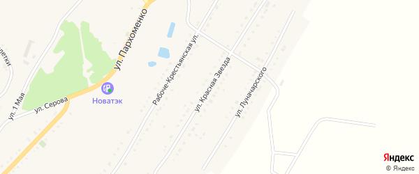 Улица Красная Звезда на карте Карабаша с номерами домов