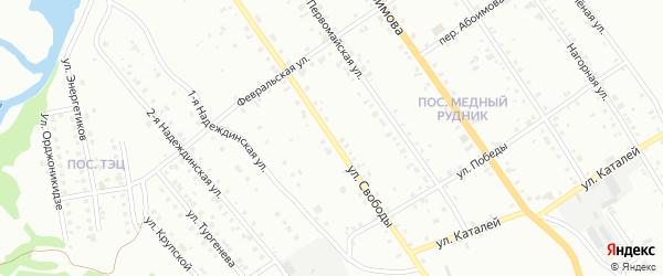 Улица Свободы на карте Краснотурьинска с номерами домов