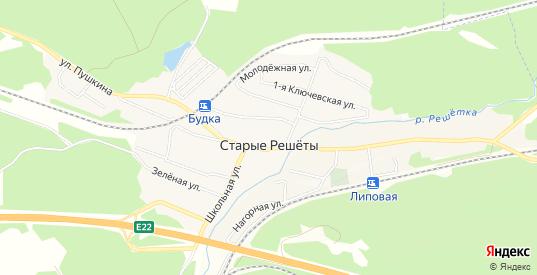Карта деревни Старые Решеты в Первоуральске с улицами, домами и почтовыми отделениями со спутника онлайн