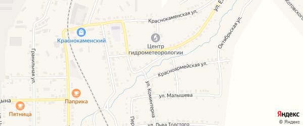 Советская улица на карте Верхнего Уфалея с номерами домов