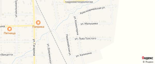 Улица Коминтерна на карте Верхнего Уфалея с номерами домов