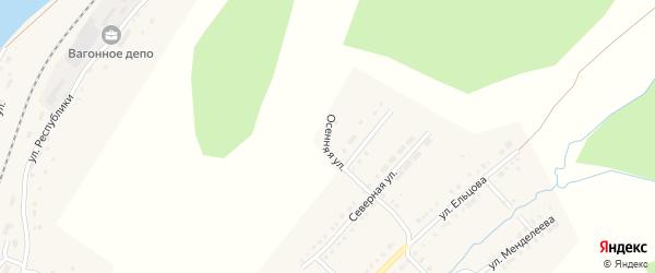 Осенняя улица на карте Верхнего Уфалея с номерами домов
