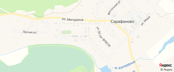 Лесной переулок на карте деревни Сарафаново с номерами домов