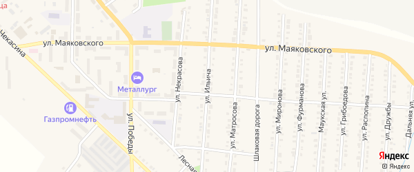 Улица Ильича на карте Верхнего Уфалея с номерами домов