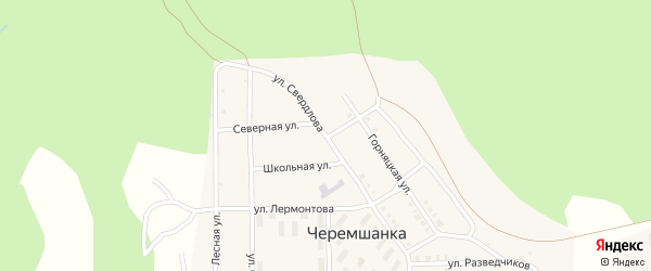 Улица Свердлова на карте поселка Черемшанки с номерами домов