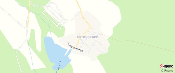Карта Октябрьского поселка города Верхнего Уфалея в Челябинской области с улицами и номерами домов