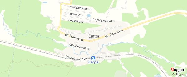 Карта поселка Сагры города Верхней Пышмы в Свердловской области с улицами и номерами домов