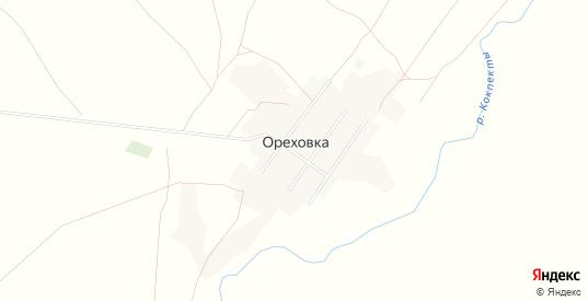 Карта села Ореховка в Оренбургской области с улицами, домами и почтовыми отделениями со спутника онлайн