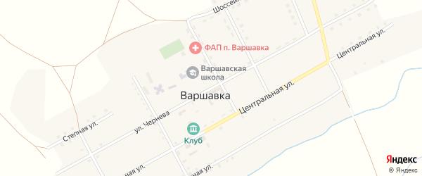 Улица Чернева на карте поселка Варшавки с номерами домов