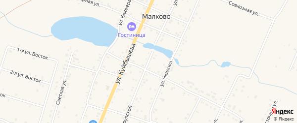 Улица Крупской на карте деревни Малково с номерами домов