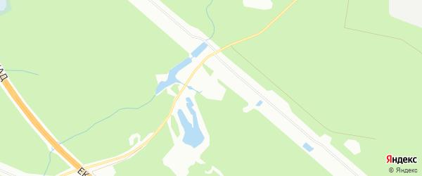 Карта поселка Светлой Речки города Екатеринбурга в Свердловской области с улицами и номерами домов